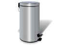 Chrome Dustbin – 20 liters, round, mirror polished with foot ped