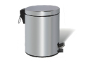 Chrome Dustbin – 5 liters, round, mirror polished with foot peda