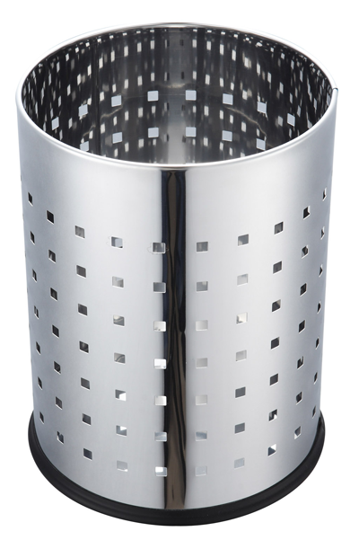 Stationery Dustbin – 12 liters Chrome