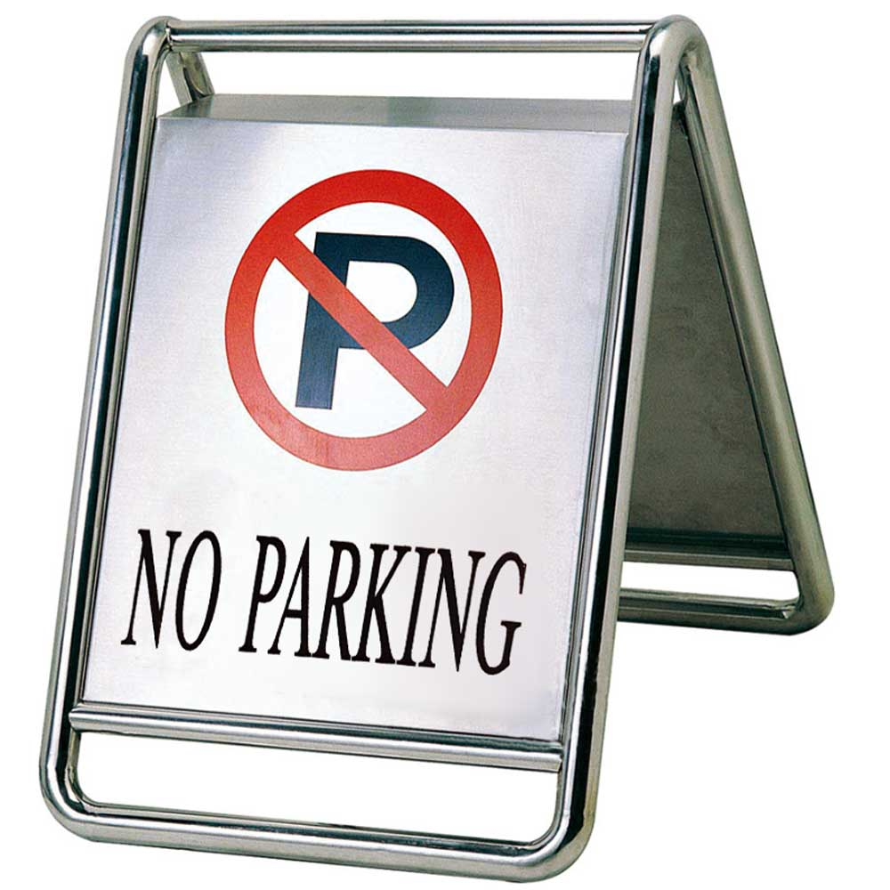 """DO NOT PARKING"" sign of stainless steel"