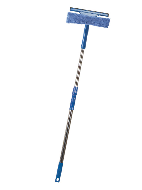 Window cleaner with microfiber and 2 breaking shoulders - 120 cm