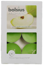 Aromatic tealight candles 6 pieces – Green Apple