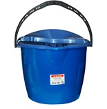 Plastic round bucket with strainer - 13 liters
