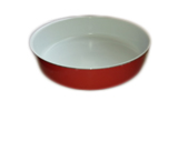 Round Tray with ceramic coating – size 34x7 cm.